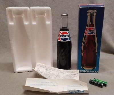 Vintage MIB Pepsi Cola Am Radio Bottle Shaped Original Box