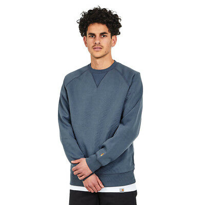 Carhartt WIP - Chase Sweat Stone Blue / Gold Pullover Rundhals