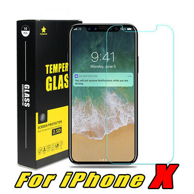 Tempered Real Glass Screen Protector 2.5D 9H for iPhone X set of 10pcs NIB