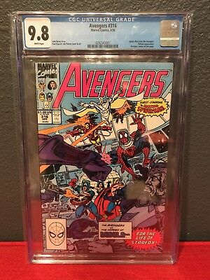 The Avengers #316 CGC 9.8 White Pages First Appearance Spider-Man as an Avenger