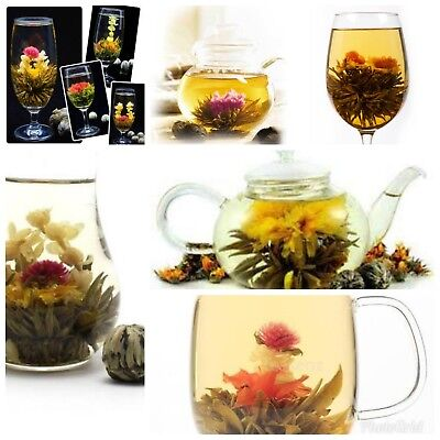 100pc Assorted Handmade Chinese Green Blooming Flowering Flower Tea Ball