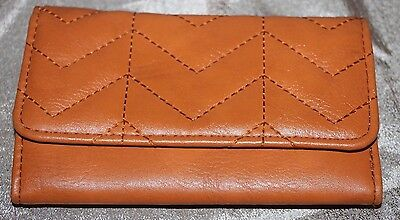 "Vintage Brown Leather Tri-Fold Photo Wallet 6"" x 4"""