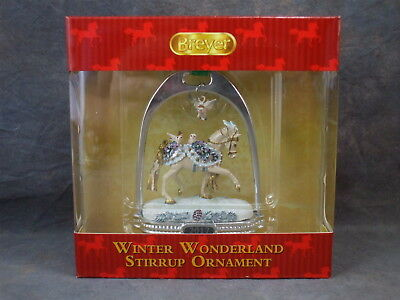 **WINTER WONDERLAND** 2017 Holiday Horse Stirrup Ornament MIB! #700318
