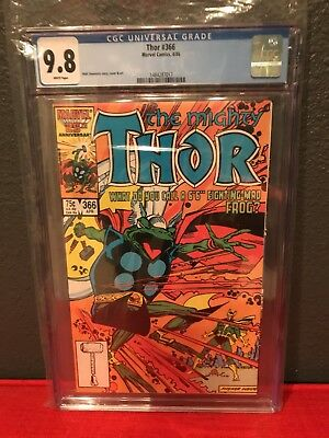 Thor #366 CGC 9.8 White Pages First Appearance Thor as a Frog Throg Simonson