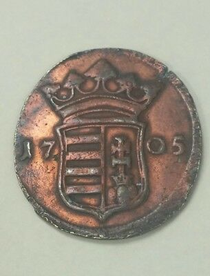 1705 hungary hungarian X token coin pro libertate for freedom liberty