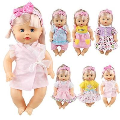 """Pack Of 6 Fit For 12"""" Alive Baby Doll Dress Clothes Fashionista Gown Outfits Inc"""