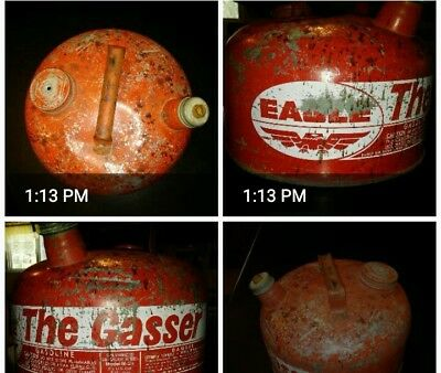 VTG EAGLE Gas Can The Gasser Galvanized steel Distressed M-2 1/2 gallon Rustic