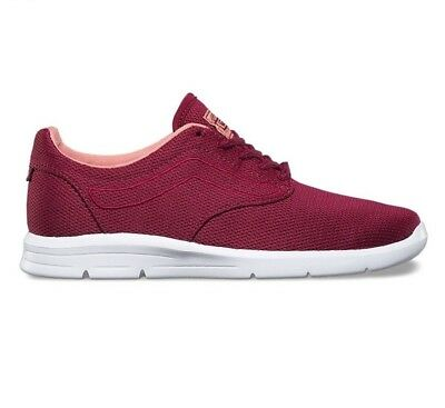 826a883c9b81eb VANS ISO 1.5 (Mesh) Beet Red White UltraCush Skate Shoes WOMEN S SIZE 9