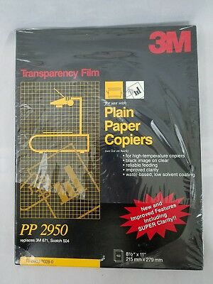 """3M Transparency Film For Copiers PP2950 100 Sheets Box 8.5"""" x 11"""""""