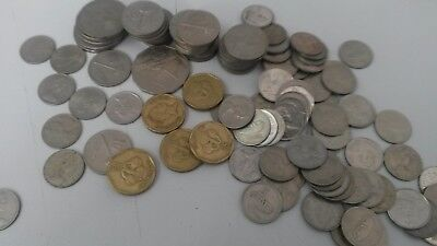 Bulk Lot of Fiji Coins Different Values Over 100 Circulated different dates.