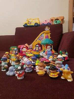 Fisher Price little people lot bus car fun park circus