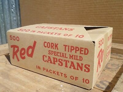 Vintage Cigarette packet, post WW2, CAPSTAN RED, by WD & HO Wills Australia.