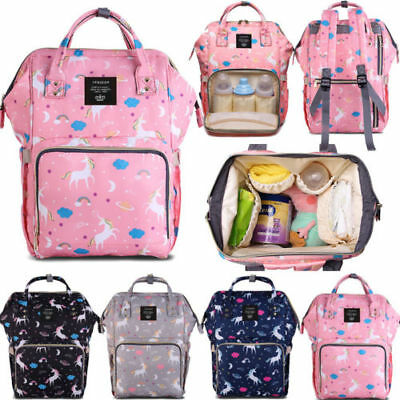 Mummy Backpack Baby Diaper Nappy Backpack Unicorn Mommy Bag Changing Waterproof