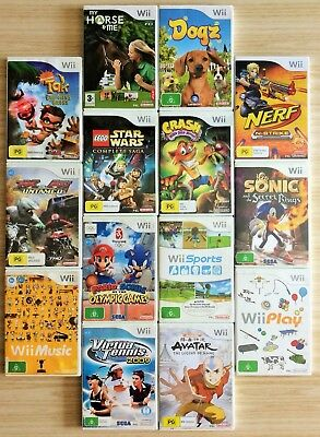 ASSORTED NINTENDO Wii GAMES ~ CHOOSE FROM THE DROP DOWN MENU ~ *PAL VERSIONS*
