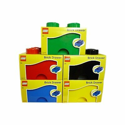 Lego Storage Brick Drawer 4 Knob In 5 Colours Red Yellow Green Black Or Blue NEW