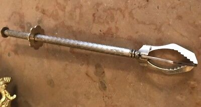 Antique French Chased Silver Plate Mechanical Ice Sugar Cube Olive Picker Claw