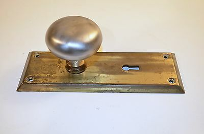 Antique Vintage Salvage Door Knob Metal Face Back Plate Coat Hat Towels Holder