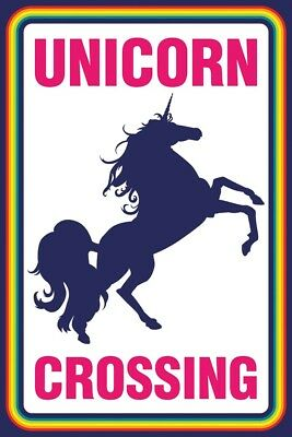 Unicorn Crossing POSTER (61x91cm) Fantasy Picture Print New Art