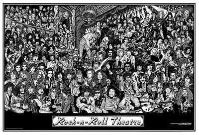 Rock N Roll Theatre Howard Teman POSTER (61x91cm) Picture Print New Art