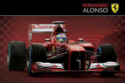 Ferrari F1 Alonso 2013 Car POSTER (61x91cm) Brand New Licensed Art Print Picture