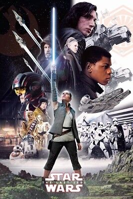 (LAMINATED) STAR WARS 8 MOVIE - KEY ART POSTER (61x91cm)  PRINT NEW HOME DECOR'