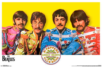 THE BEATLES SGT. PEPPERS POSTER (57x87cm)  PICTURE PRINT NEW ART