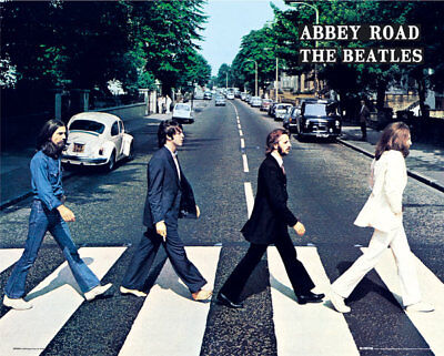 THE BEATLES ABBEY ROAD CROSSING POSTER 40x50cm NEW LICENSED ART PRINT PICTURE