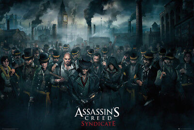 Assassins Creed POSTER (61x91cm) Syndicate Crowd Picture Print New Art