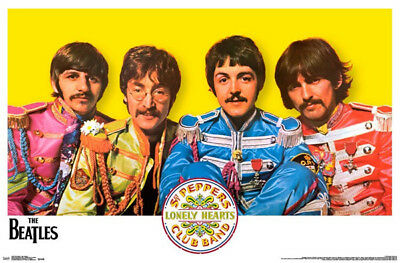 (LAMINATED) The Beatles Sgt. Peppers POSTER (57x87cm) Print New Art