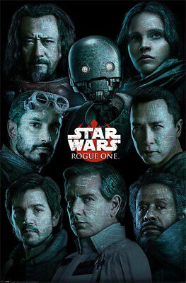 STAR WARS ROGUE ONE CHARACTERS POSTER (61x91cm)  PICTURE PRINT NEW ART