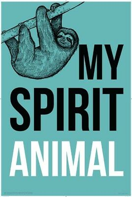 Sloth - Spirit Animal POSTER (61x91cm) Picture Print New Art