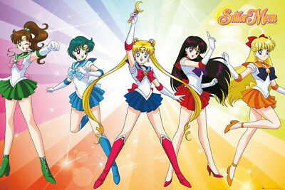 Sailor Moon Characters POSTER (61x91cm) Picture Print New Art