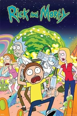 Rick And Morty Show Group Poster (61X91Cm) New Print Art