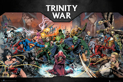 JUSTICE LEAGUE TRINITY WAR POSTER (91x61cm)  PICTURE PRINT NEW ART