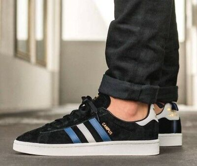 competitive price f5ba3 7264a New ADIDAS Originals Campus Suede Sneaker Mens black blue all sizes