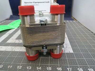 "1"" X 1"" Npt 25 Plate Liquid To Liquid Heat Exchanger 212˚f @ 232 Psi [B1Bd]"