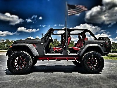 "Jeep CUSTOM LIFTED JL RHINO LEATHER OCD JL CUSTOM RHINO LINED HARDTOP JL*KEVLAR RHINO*SKYJACKER*LEATHER*HARDTOP*22"" FUELS*37"" NITTOS*WE FINANCE*FLA"