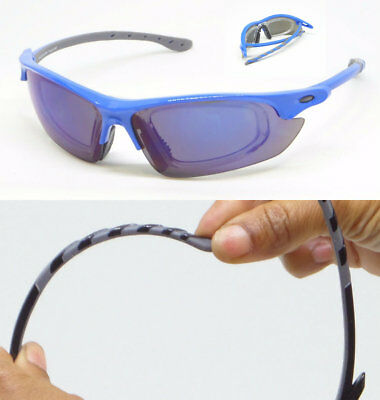 Sunglasses with Removable RX Prescription Adapter Mirrored Lens Sports Glasses