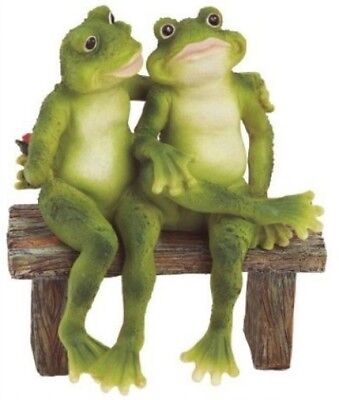 FUNNY FROG STATUE Resin Garden Outdoor Yard Lawn Patio Home Gift ...