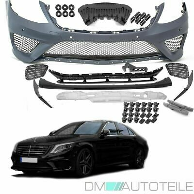 Mercedes W222 Sport Front Bumper +BLACK Edition Equipment for S63 AMG Mod 13-18