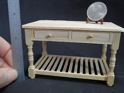 Dollhouse Miniature 1:12 Wood Working Table W/Drawers & Shelf Falcon FCA2229