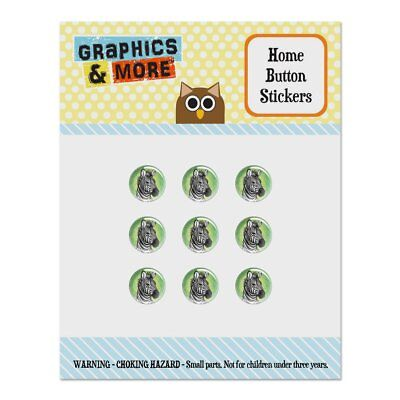 Zebra Face Home Button Stickers Fit Apple iPhone