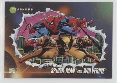 1992 Impel Marvel Universe Series 3 #74 Spider-Man Wolverine Non-Sports Card 1md