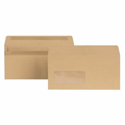 Q-Connect Manilla Envelopes DL High Window 70gsm Gummed Pack of 1000 - KF3409