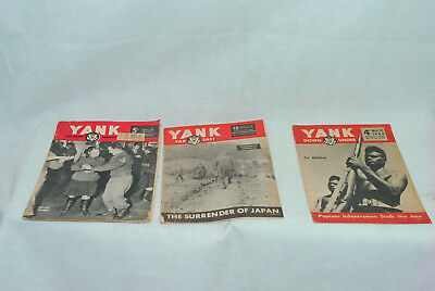 Lot of 3 Yank Army Weekly Magazines as pictures 04-038