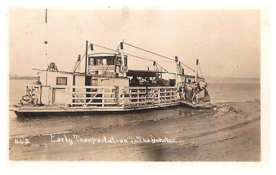 Ferry unloading Mule and supplies in the Dakotas RPC