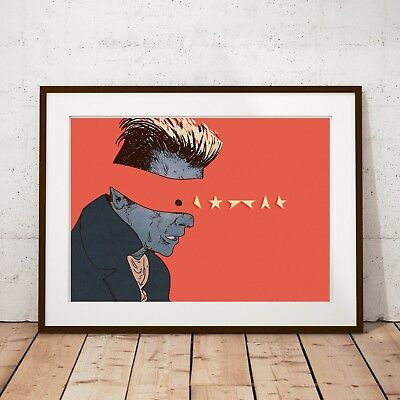 David Bowie inspired 'The Lost Star' Illustrated Art Print Poster