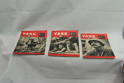 Lot of 3 Yank Army Weekly Magazines as pictures 04-046