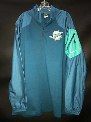e7880a5fc87 Miami Dolphins Team Issued game Used On Field Windbreaker rain Jacket fleece