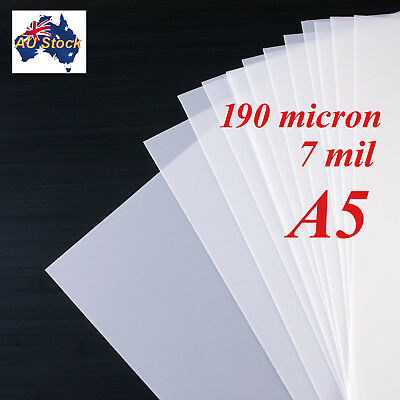 Stencil Film 5 sheets A5 Mylar: 190 micron  for Airbrushing, Painting and Craft